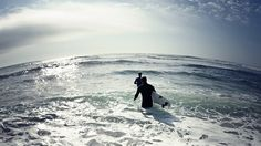 Heading out to surf - Surfers in water  #ocean #beach #waves