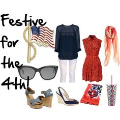 """""""Festive for the 4th!"""" by the-shoe-club on Polyvore"""