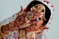 Indian mendhi/henna for a bride