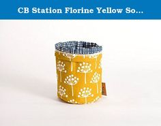CB Station Florine Yellow Soft Bucket (Size-Small) design by Lotta Jansdotter. Cute little organizers to decorate your desks or kids room. The smallest things are hardest to find so keep them handy with this organizer. Whether you're looking to Jazz up your potted plants or store your desk utensils in style, our Small Buckets make for a unique and modern way to dress up your everyday accessories.Inspired by natural themes and organic shapes.