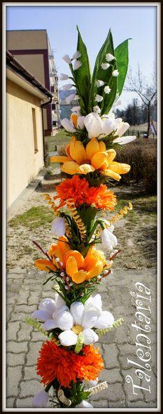 kwiaty z bibuły, palma, wiosna