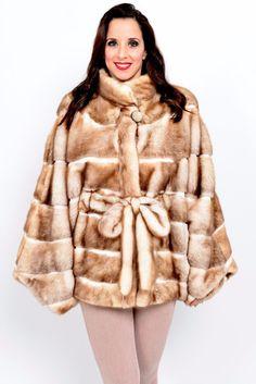 MINK FUR JACKET - DECOLORATED -finest females HORIZONTAL class of coat fox sable | eBay