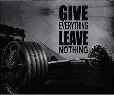 Give everything leave nothing