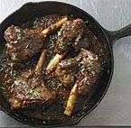 Cast Iron southwestern braised lamb shanks recipe