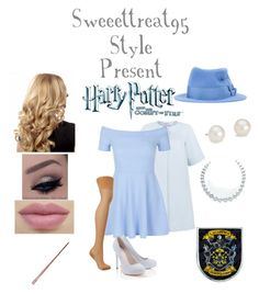 Beauxbatons Style. by sweeettreat95 on Polyvore featuring polyvore fashion style New Look Peridot London Agent Provocateur Lipsy Blue Nile Maison Michel Academie clothing