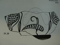Crazy bird from a Late Bronze Age Greek pot