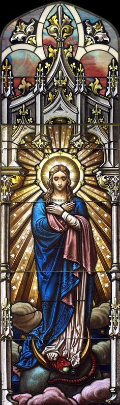 Sisters of the Resurrection Convent Location: Chicago, Illinois Restoration 2003 Historic Restoration of 14 large windows, and their resizing to fit new openings in the chapel. Leaded Glass, Stained Glass Art, Stained Glass Windows, Mosaic Glass, Religious Images, Religious Art, Religion, Catholic Art, Blessed Mother