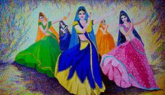 Garba Paintings - Swirl of the Skirts  by Sushobha Jenner