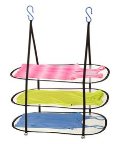 Honey-Can-Do Hanging Sweater Dryer, Black. Dry delicate items in any space with this three tier hanging sweater dryer from Honey-Can-Do. Durable plastic hooks fit any standard shower rod and Hanging Clothes Dryer, Clothes Drying Racks, Hanging Dryer, Hanging Drying Rack, Wall Mounted Drying Rack, Sweater Drying Rack, Laundry Dryer, Shower Rod, Cleaning Hacks