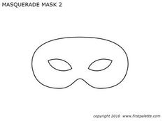 Basic Masquerade Mask Templates
