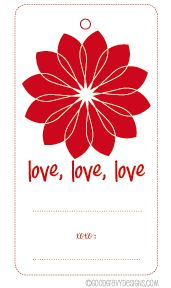 DIY Free Printable - Valentine's Day Gift Tags