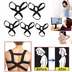 This product introduces the three-point support and comfortable design for armpit area, easy to adjust the elastic strap tension and support the spine upright. Features: 1.Application: spine posture...