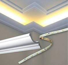 Outwater has created a special series of high-density polyurethane Cornice Mouldings in its Orac Decor®, specifically intended for use with Indirect Lighting. Led Ceiling Lights, Room Lights, Cornice Moulding, Crown Moldings, Molding Ceiling, Recessed Ceiling, 12 Volt Led, Slider Window, Hidden Lighting