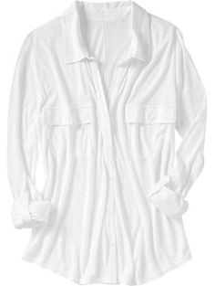 ON utility-pocket jersey shirt in calla lilly - totally versatile and super-soft and easy