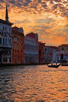 #Sunset over Grand Canal #Venice #Veneza #Italy