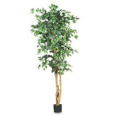 Nearly Natural 6-Foot Ficus Silk Tree - BedBathandBeyond.com - $83