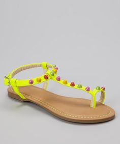Take a look at this Yellow Bear Sandal by PINKY FOOTWEAR on #zulily today!