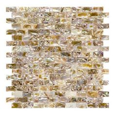 Jeffrey Court Pacific Coast 11-1/2 in. x 11-1/2 in. x 3 mm Shell Brick Mosaic Tile-99775 - The Home Depot