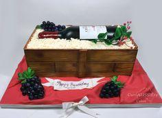 Wine box and bottle cake!