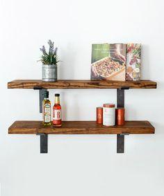 Look at this #zulilyfind! Industrial Two-Tier Shelf Set #zulilyfinds