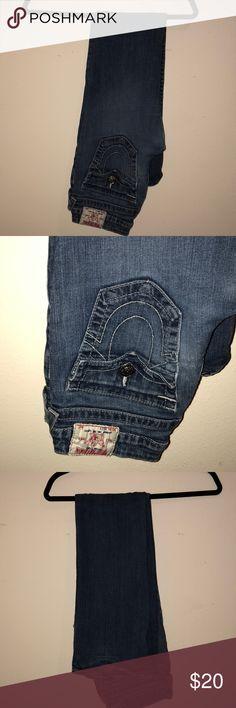 "True Religion Boot cut jeans. Waist size 27 True Religion boot cut jeans. No rips or tears in great shape. Very comfy. Inseam 32"". True Religion Jeans Boot Cut"
