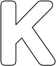 Printable alphabet letter k template alphabet letter k templates blanko buchstabe kg spiritdancerdesigns Gallery