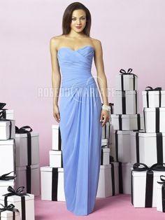 Robe de soirée pas cher décolletée http://www.robedumariage.com/simple-robe-de-soiree-mariage-pas-cher-chiffon-sans-bretelle-empire-product-7306.html