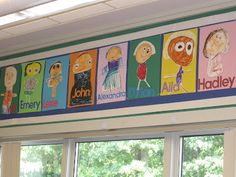 Love these student self-portraits  (From Chalk Talk: A Kindergarten Blog)