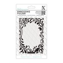 GBP - Docrafts Xcut Embossing Folder Floral Curls X Cut Border With Leaves & Garden Online Craft Store, Craft Stores, Forest Crafts, Fabric Crafts, Paper Crafts, Thing 1, General Crafts, Craft Business, Flower Frame