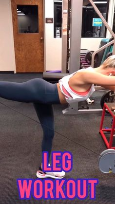 Sculpt your glutes and quads with the gym leg workout. This workout uses dumbbells and cable machines to get a killer workout. Tighten & tone your lower body. Fitness Workouts, Fitness Motivation, Training Motivation, Cardio Workouts, Gym Workouts Women, Body Workouts, Fitness Diet, Fitness Goals, Cable Workout