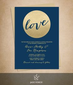 Gold Sparkle Wedding Invitation DIY // Metallic Gold Glitter Circle on Navy Blue Background Printable PDF ▷ Invite Printable Glitter Wedding Invitations, Creative Wedding Invitations, Gold Wedding Invitations, Diy Invitations, Wedding Invitation Suite, Invites, Sparkle Wedding, Gold Sparkle, Diy Wedding
