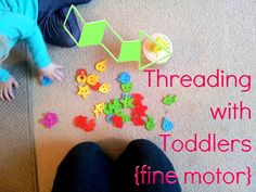 Threading with toddlers