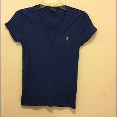 Ralph Lauren cotton stretch tee Beautiful royal blue color. Excellent condition Ralph Lauren Tops Tees - Short Sleeve