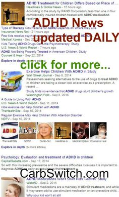ADHD Diet for ADHD Kids: ADHD Treatment - Top pins from Pinterest to help spur ideas and help. Plus DAILY ADHD News Updates.#carbswitch carbswitch.com