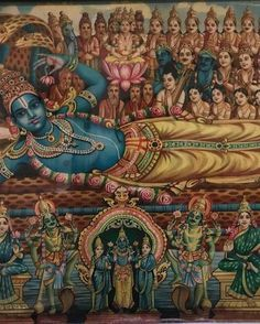 """O Olhar de Maha-Visnu Os Vedas personificados continuaram: (...) """"A manifestação cósmica torna-se possível por causa da entrada da Suprema Personalidade de Deus como Maha-Visnu dentro deste mundo material... Por favor leia mais no blog!!!"""