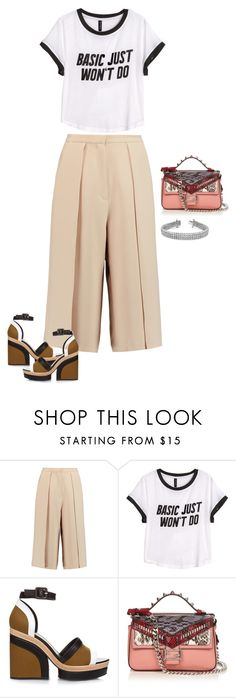 """Untitled #1840"" by quaybrooks on Polyvore featuring Iris & Ink, H&M, Pierre Hardy and Fendi"