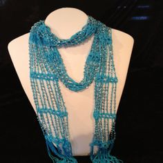 beaded jewerly scarf