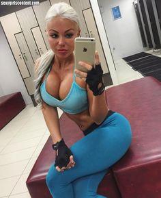 Busty gym girls