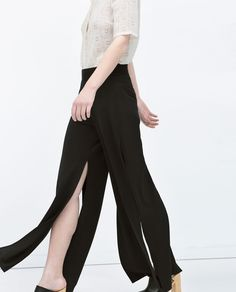 Image 5 of SIDE SLIT TROUSERS from Zara