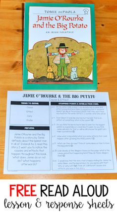 Jamie O'Rourke & The Big Potato - Read Aloud Lesson - Thank God It's First Grade!