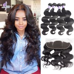 Ear To Ear 13*4 Lace Frontal Closure With Bundles 6A Peruvian Body Wave Virgin Hair With Closure Human Hair Weave Free Shipping