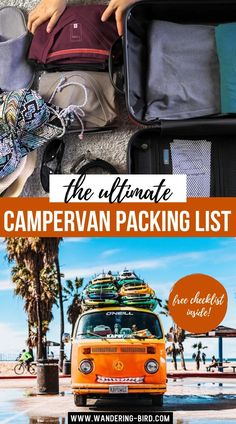 The Ultimate Campervan Packing List. Getting a Motorhome (or Campervan, or RV!) is exciting… but then you have to fill it! You need to consider weight allowances, storage and usefulness- and sometimes that can just be a bit daunting!! Still, we're here for you! Here's our Motorhome & Campervan Essential Kit packing list- take lots of notes and start making your own! Campervan Essentials| RV Essentials Packing Lists | Campervan Checklist | What to Pack for a Road Trip | Road Trip Packing List Packing Tips For Vacation, Road Trip Packing List, Packing Hacks, Road Trip Essentials, Rv Hacks, Road Trip Hacks, Packing Lists, Travel Packing, Travel Reviews