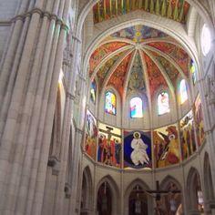Inside a church in madrid