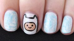 cute kawaii nails adveenture time - Google Search