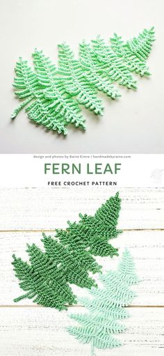 Crochet Leaf Patterns, Crochet Leaves, Crochet Motif, Crochet Flowers, Crochet Stitches, Crochet Appliques, Crochet Crafts, Easy Crochet, Crochet Projects