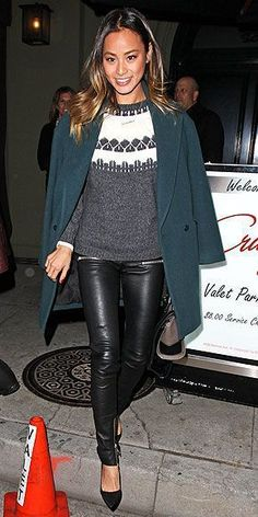 Inspiration look Day to night : Inspiration look Day to night : Cozy sweaters: Soft and sweet. Leather pants: Pr