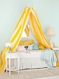 Looking for canopy bed design ideas for your little princess? Here is the list of top 10 Dreamy Canopy Bed Design Ideas for Girl's Room. Girls Bedroom, Girl Room, Child's Room, Master Bedroom, Diy Canopy, Canopy Tent, Fabric Canopy, Canopy Lights, Diy Bed