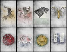 House Sigils.  Do you know all their House Words?