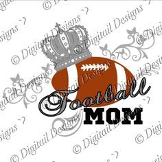 Football Mom SVG PNG Cut file by DigitailDesigns on Etsy