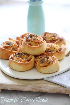 Thermomix #recipe for gorgeous Ham Cheese Scrolls from Lucy @bakeplaysmile